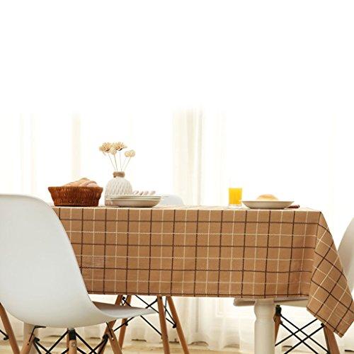 YXF dunne tafelkleden bruin rechthoekig stof katoen tafelkleden en tafelkleden tuintafel rond vierkant doek YXF verzending naar uw dierbaren