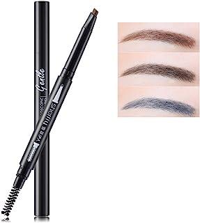 Bodermincer Hot New 3 Colors Shadow To Eyebrow Natural Waterproof Longlasting eyebrow pencil Women Waterproof Eyebrow Pencil With Brush Make Up tool (Grey Black)