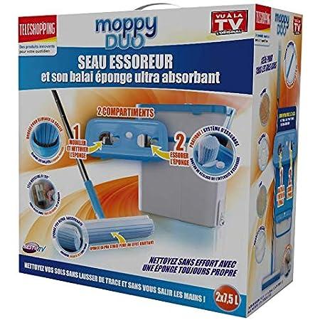 MOPPY DUO Le Seau essoreur et Son Balai éponge Ultra Absorbant - Vu à la Télé
