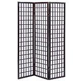 Giantex 3-Panel Room Divider Solid Shoji Wood Folding Privacy Screen Cherry