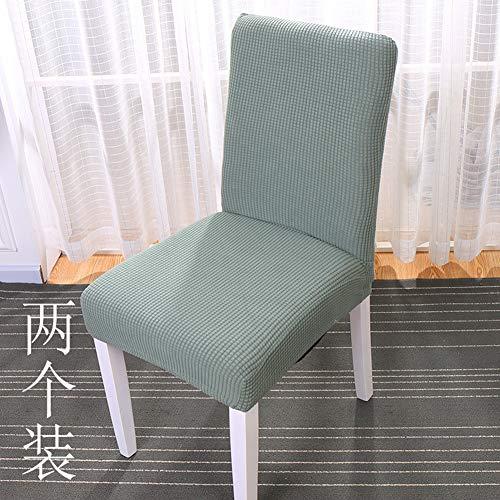 Dongbin Stuhlbezug Haushalt einfach einteilig elastisch durch Esszimmerstuhlbezug Esstisch Stuhlhussenbezug Kissen Kissen Stoff4PCS,F