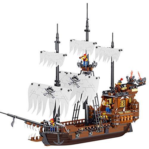 SLL Juguetes Errante Piratas del Caribe Barco de Juguete de Modelo Asamblea Building Blocks Puzzle Puzzle Boy