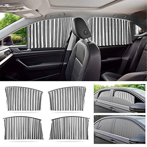 Parasol de Coche Ventana Lateral para Toyota Yaris Avensis GT86 Hilux Corolla Prius Camry Boquear UV, Protege a su Bebé y Mascotas Cortina Universal para Coche Sombrillas Plateado