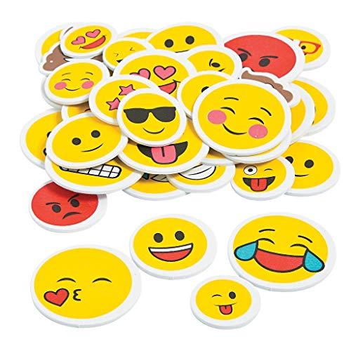 Elfen und Zwerge - XXL Emoji Sticker - Aufkleber Smileys - Deko & Verzierung - Mitgebsel zur Geburtstagsparty - 44 Stück