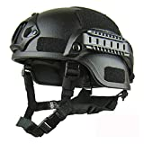 YGQNH Specialized Fahrradhelm Hochwertiger Leichter Fast Helm MICH2000 Airsoft MH Tactical Helm...