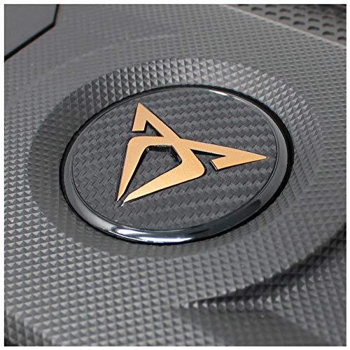 Emblem Folie Logo Folien Cover Abdeckung Motor Dekor Motorabdeckung Motorraum Aufkleber Bekleben (K113 Kupfer Matt)