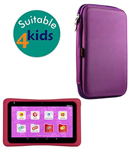 Navitech Purple Hard Protective Case Cover for The American Girl Tablet. Powered by nabi.
