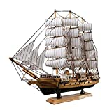 Pirate Ship and Sailboat Vessel Black Highly Difficult Model Kit Ship Building Gift for Adults and Kids