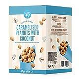 Marca Amazon - Happy Belly Cacahuetes Garrapiñados con Coco, 120g x 4