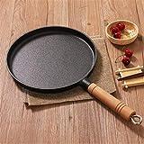 26 cm addensato ghisa antiaderente friggere padella strato-torta torta pancake crepe maker piatto piatta piatta griglias colazione omelette da cottura (Color : A)