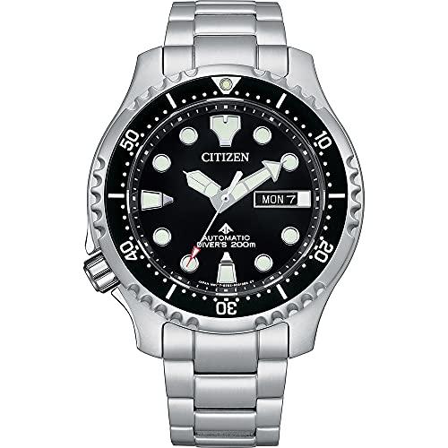 Citizen Promaster Marine NY0140-80E - Reloj de buceo automático para hombre, acero y negro