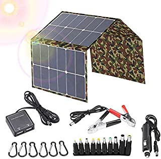 Foldable 120W Solar Panel Charger 18V Folding Pack Battery Laptop Mobile Phone Charger Camping Outdoor USB/DC Convenient S...
