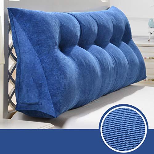 GY Bedside driehoekig wigkussen, softpack, dubbele rugleuning, ondersteunt het lezen van het bed, taillekussen, multifunctioneel wasbaar, 5 kleuren, 8 maten