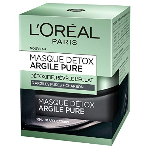 L'Oréal Paris – Masque Détoxifiant Pour Le Visage – Argile Pure – 50 ml