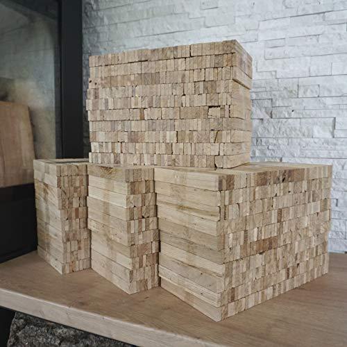30 kg Eiche Anmachholz (Neue Version 2020) – Sehr sauber und trocken – Perfektes Anfeuerholz für eine gemütliche Raumwärme - Ideales Zubehör um Brennholz im Kamin zu entfache (30 kg Anmachholz)