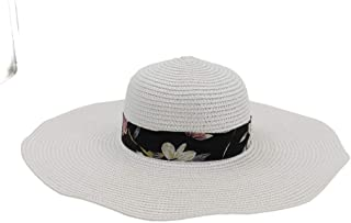 Sun Hat for men and women Fashion Women Straw Hat Summer Sun Hat Cute Solid Color Chapeu Feminino Striped Floral Satin Hat Travel Beach Hat Topee