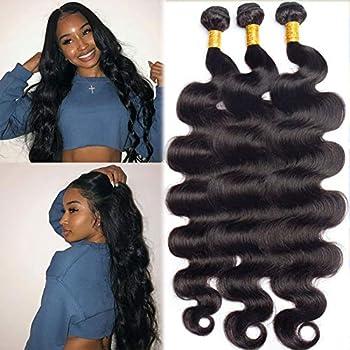 12A Brazilian Body Wave Human Hair Bundles 30 32 34 inch Unprocessed Remy Human Hair 3 Bundles Weave Hair Human Bundles Brazilian Hair Bundles For Black Women Long Body Wave Bundles