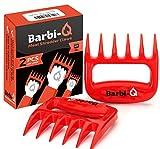 Par de Garras de Carne para Barbacoa | Tenedores para Carne Tirado | Trituradora para Cerdo Tirado (Rojo)