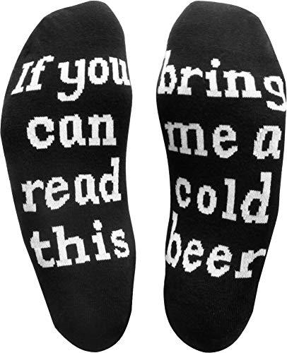 Circle Five 2 Paar Herrensocken mit witzigen Sprüchen Farbe Cold Beer/Sleep