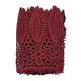 ynuth 1Yard Crochet encaje bordado borde guarnecido cinta con Sharp diseño de hojas para coser CRAFT–ancho 9cm