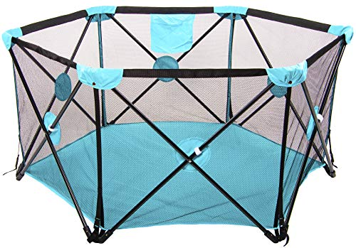BalanceFrom Portable Play Yard Play Pen with Carrying Case, Indoor and Outdoor, Multicolor