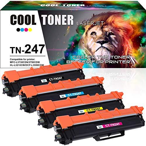 Cool Toner Kompatibel Tonerkartusche Replacement für TN-247 TN247 TN-243 TN243 Toner für Brother MFC-L3750CDW MFC-L3730CDN MFC-L3770CDW HL-L3230CDW HL-L3210CW HL-L3270CDW MFC-L3710CW MFC-L3730CDN