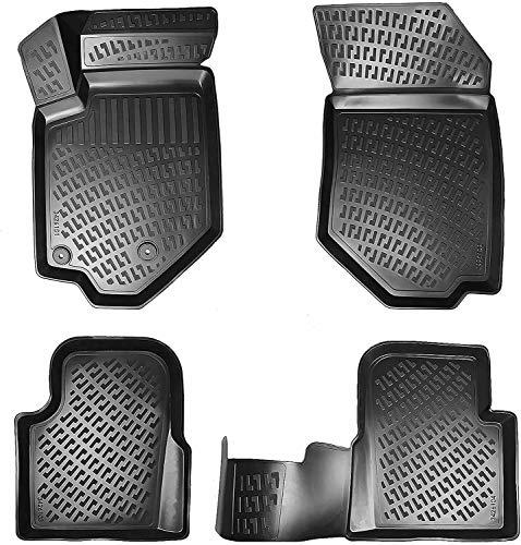 Elmasline Design 3D Gummimatten Set für Toyota Yaris (III) 2011-2019 | Hoher 5cm Rand