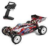 GoolRC WLtoys 104001 RC Car, 1:10 Scale 2.4GHz Remote Control Car, 4WD 45km/h High Speed Racing Car, All Terrain Off-Road Buggy, Drift Car with Aluminum Alloy Chassis, Zinc Alloy Gear and 1 Battery