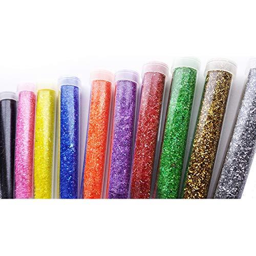 10 x tubetti glitterati per arte e artigianato, colori vivaci assortiti – aggiungi scintille ai tuoi regali e décor