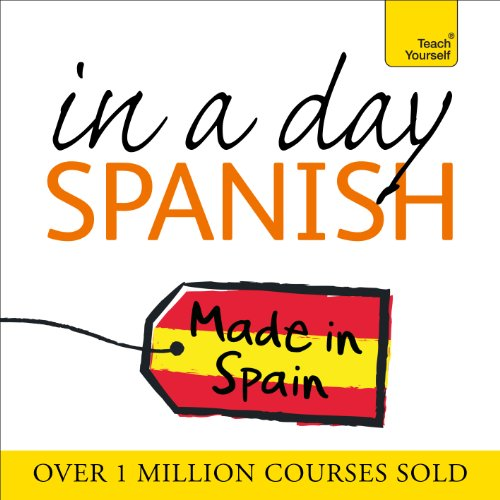Spanish in a Day audiobook cover art