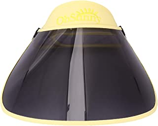 CLISPEED Sun Visor Cap Uv Protection Hat Cap Sport Hiking Golf Tennis Outdoor Face Cover for Women Men Yellow