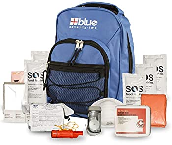 Blue Coolers 72 Hour Emergency Backpack Survival Kit for 1 Person