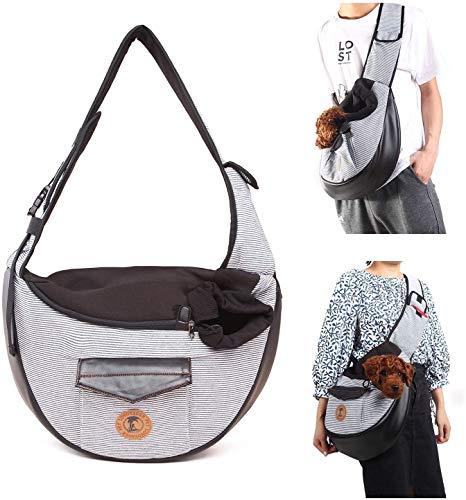 Mqforu Transporttasche für Haustiere, für Hunde und Katzen, mit Schulterriemen, freihändiges Tragen