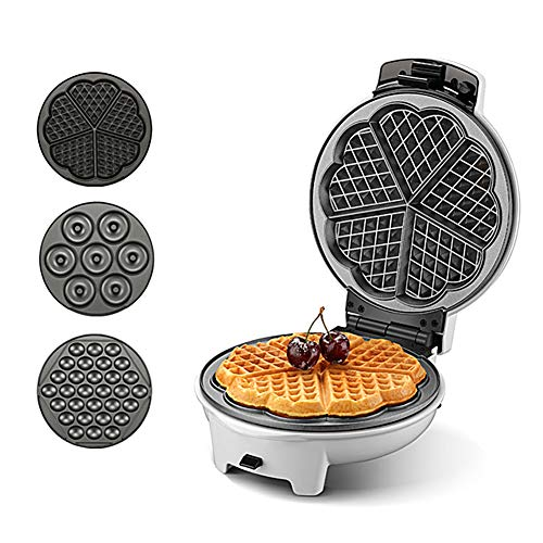 -Heart Shaped wafelijzer, Quick temperatuurknop, Dubbelzijdig Verwarming, Intelligent constante temperatuur wafelijzer, geschikt voor wafels of loempia's, gemakkelijk te reinigen, anti-aanbakpan