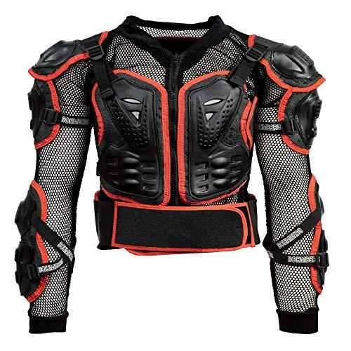 Bohmberg® Body Protector Safty Jacket Protektoren Hemd Brustpanze Motorrad Schutz Protektoren Motorradjacke Hemd Brustschutz Fallschutz Schutzjacke - L