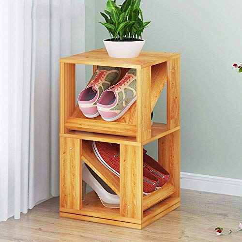 YLCJ Creatieve Multilayer Roterende Schoen Rack/Schoenendoos Single Bedroom Home Open haard/Schoenplank Multifunctionele Plank Schoen (Maat: 30 * 30 * 61.9 cm)