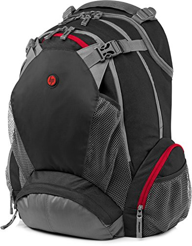 HP 17-inch (43-centimetre) Laptop Backpack - Black/Grey/Red