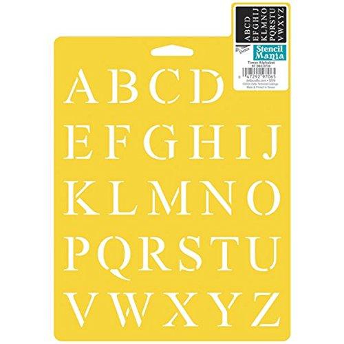 Delta Creative Stencil Mania Stencil, 7da 25,4cm, 970650710Volte Alfabeto