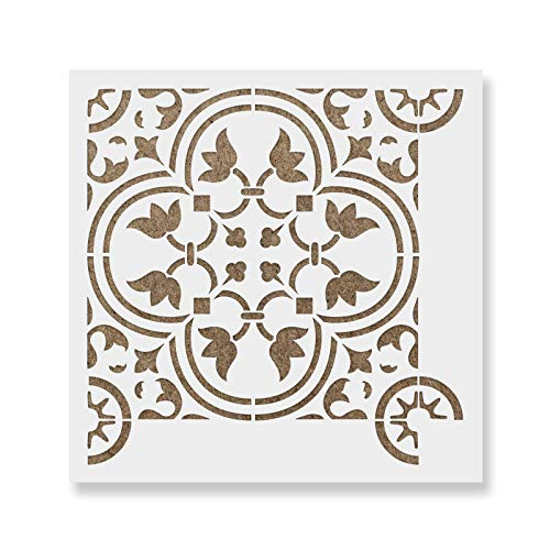 Rosario Tile Stencil - Reusable Scandinavian Tile Stencils for Painting Custom Floors, Walls, Furniture and More!