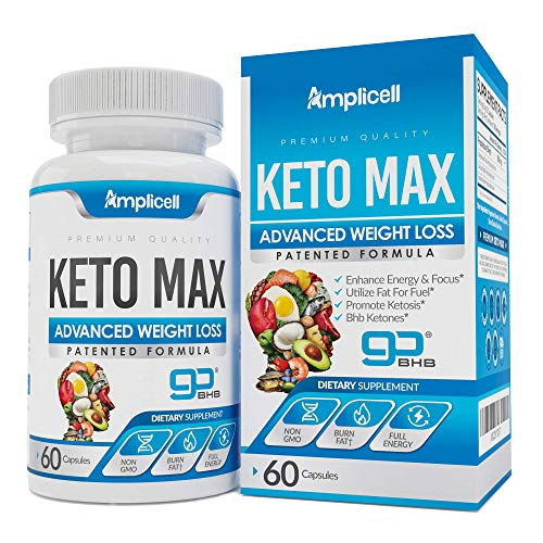 Keto Max GoBHB - Advanced Keto Pills BHB Ketosis Diet - 60 Keto Diet Pills for Women & Men - 400mg Keto Supplement - Exogenous Ketones Capsules - Keto Boost Pills Lose Weight & Utilize Fat for Energy 1