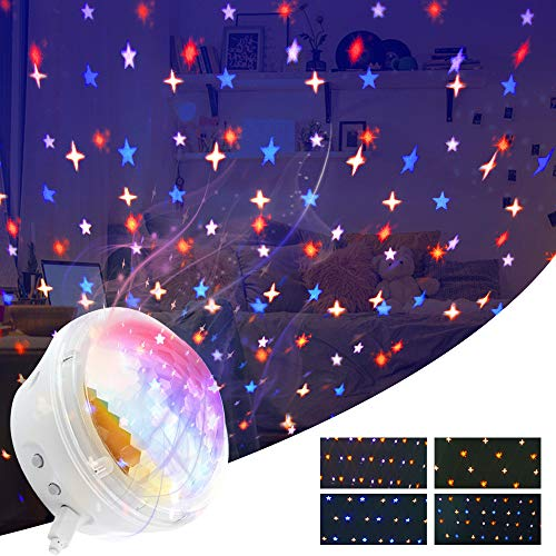 iMoebel LED Projector Starry Sky Lamp - Star Projector Night Light [2020 New Model] Twinkle Star Lamp for Bedrooms with 4 Modes and Timer Function, Best Gift for Baby Children Party Interior - White