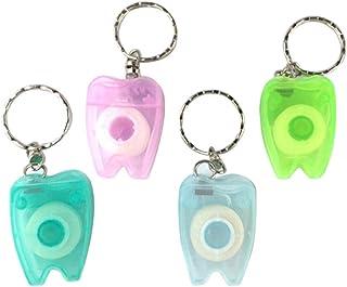 Healifty 15 m przenośna nić dentystyczna Keychain Floss Stick 4 szt. (losowy kolor)