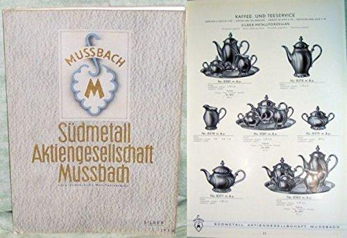 Katalog über Messing schwer versilberte Haus- und Tafelgeräte.