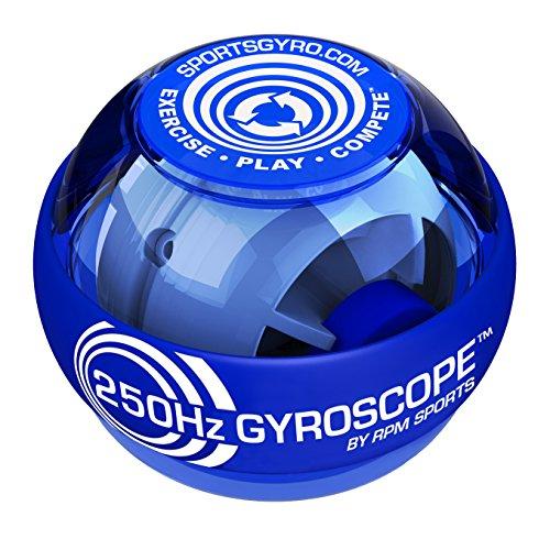 Powerball KB188-B, 250Hz Clasico Azul, Ejercitador para la Muñeca y para Músculos de Antebrazos y Empuñadura Fuerte