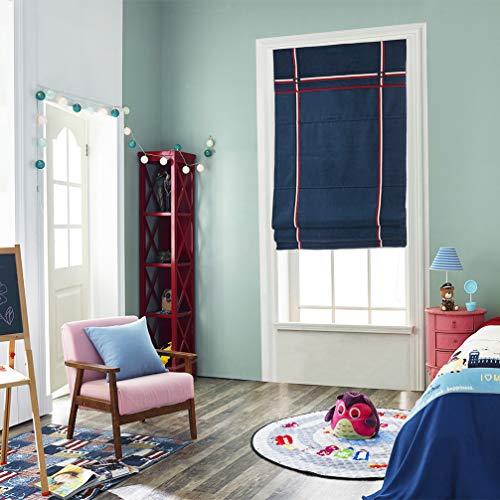 AMON LL Light Filtering draadloze Romeinse tinten, marineblauw duurzame verduisteringsrolgordijnen voor schaduw de ramen, kamer donker maken