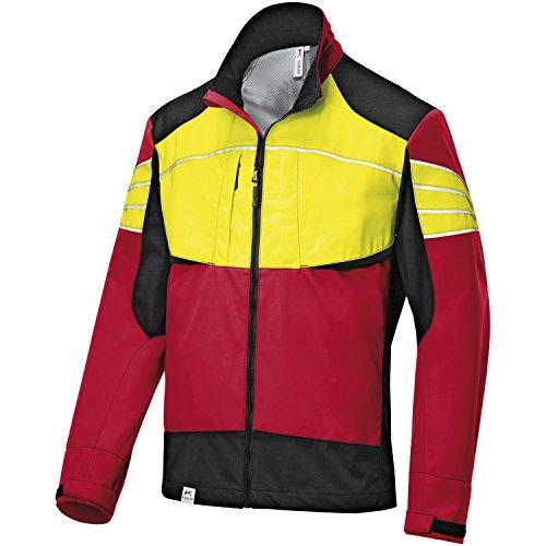 KÜBLER Ultrashell Jacke Forest rot/warngelb Gr. M 100% Polyester