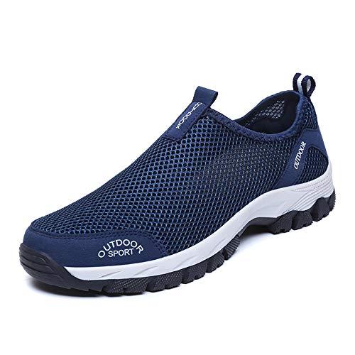 Herren Outdoor Fitnessschuhe Atmungsaktive Mesh Schuhe Sport Größe 39-48 Size Slipper mit Klettverschluss Sportschuhe Sneaker Turnschuhe Laufschuhe Pumps Aquaschuhe Badeschuhe Strandschuhe
