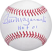 "Bill Mazeroski Pittsburgh Pirates Autographed Baseball with""HOF 01"" Inscription - Fanatics Authentic Certified"