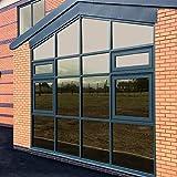 KINLO Marrón Vinilo Ventana Cristal Protector Solar Lámina Privacidad de Una Manera Espejo Película Adhesiva de Gran Reflexión Anti 97% UV Mejor Control de Calor Fácil Instalar Oficina Salón 75x300cm