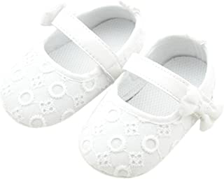 Baby Girl Soft Sole Cloth Mary Jane Shoes Prewalker with Bowknot